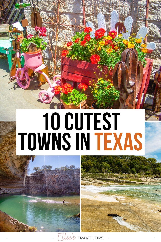 cutest texas towns pin