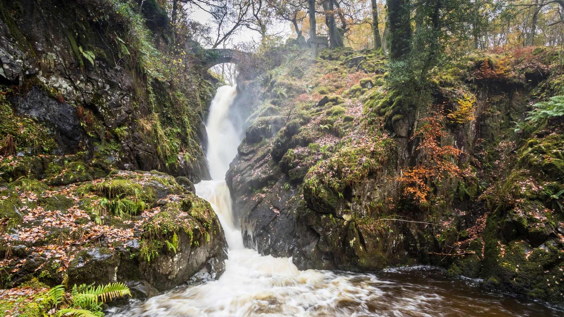 Aira Force, England beautiful waterfalls