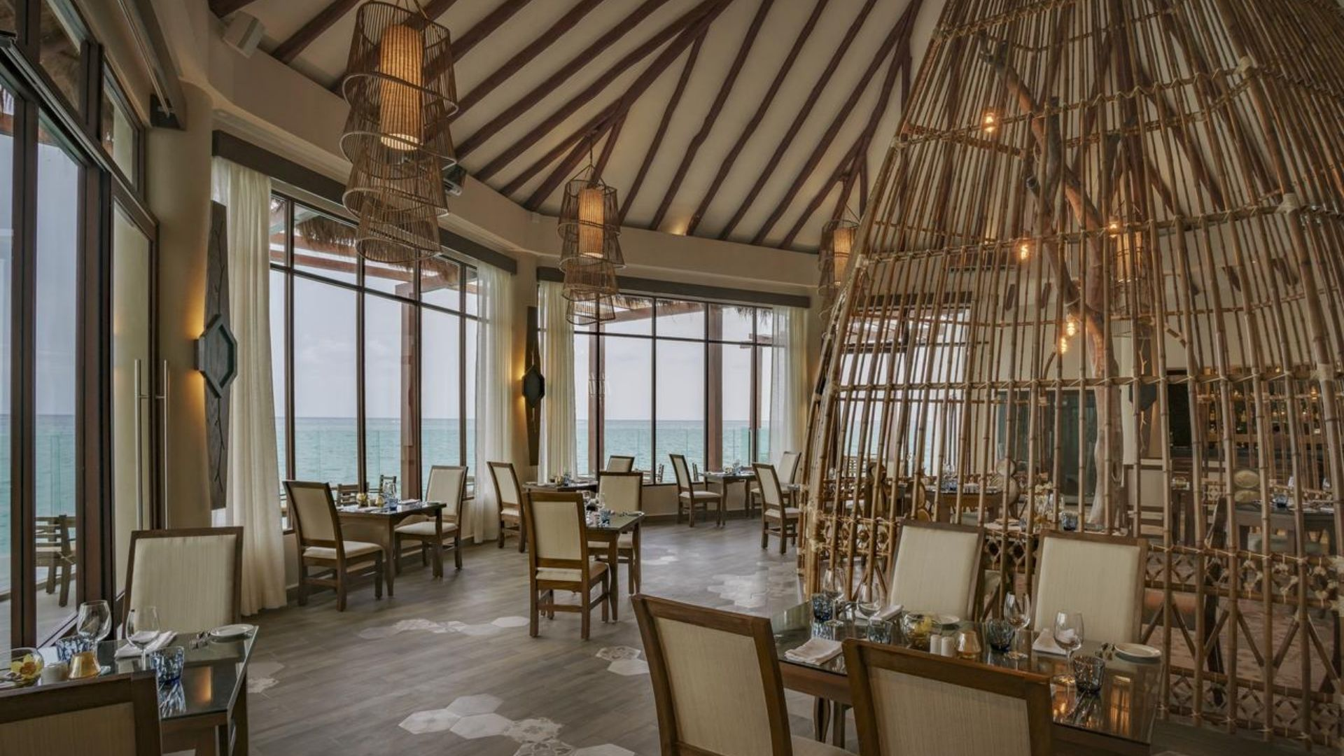 El Dorado Palafitos Overwater Bungalows Dining Room