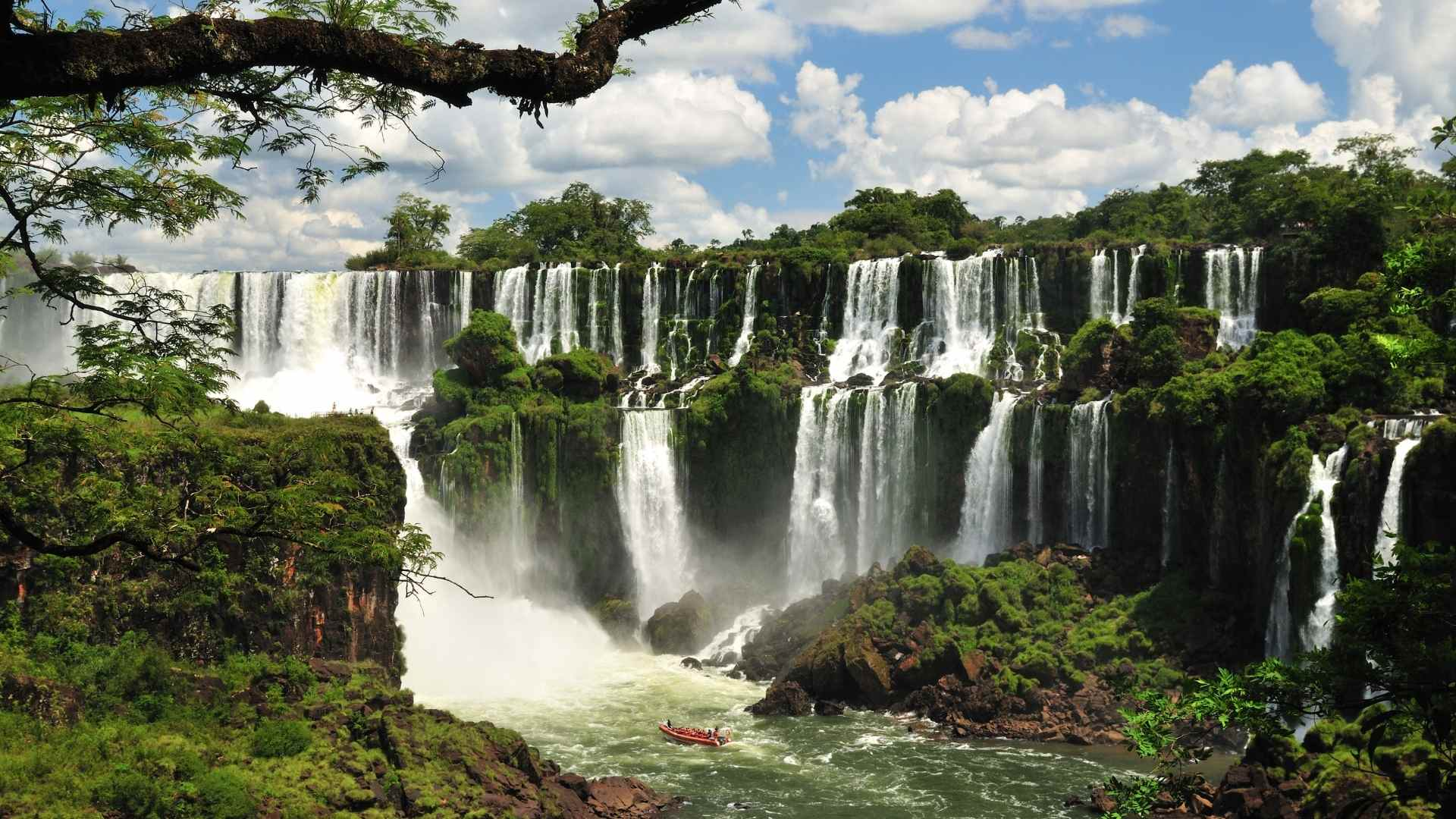 Iguazu Falls Brazil and Argentina beautiful waterfalls