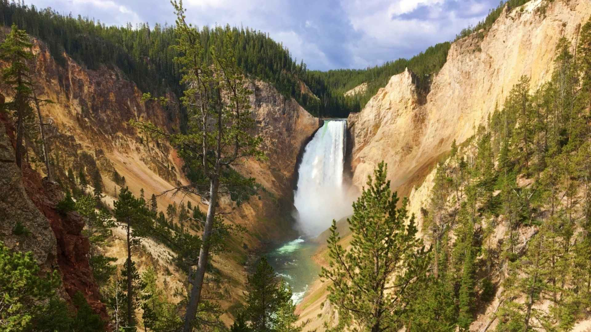 Lower Yellowstone Falls Wyoming beautiful waterfalls
