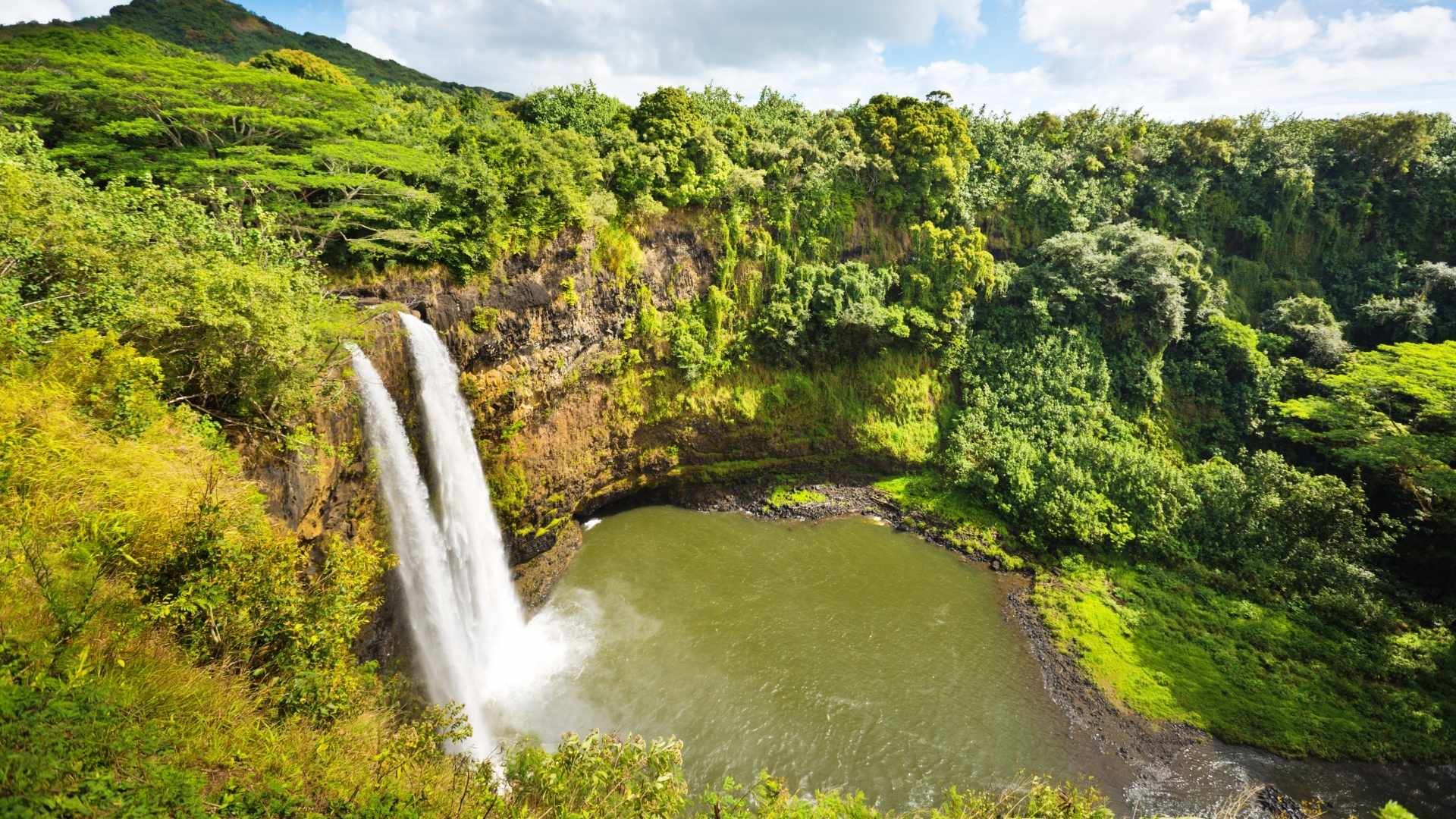 Wailua Falls Hawaii beautiful waterfalls