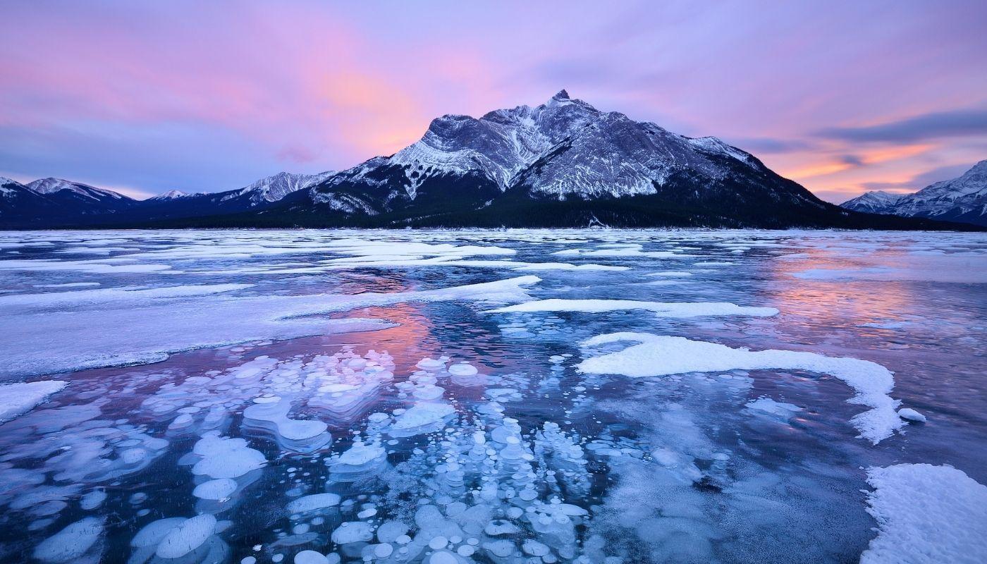 beautiful Abraham Lake Canada