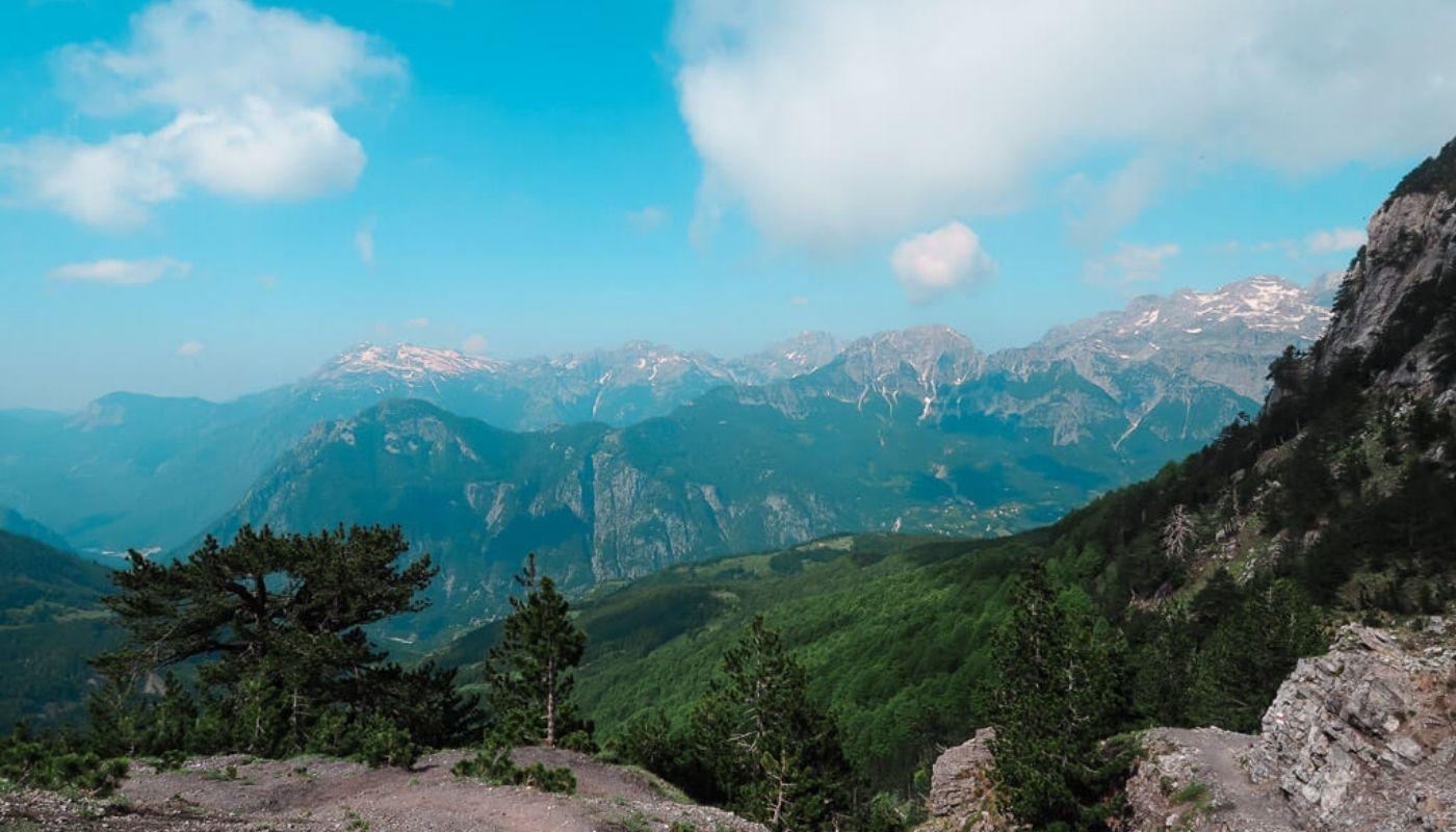 beautiful Vanbona to Theth hike