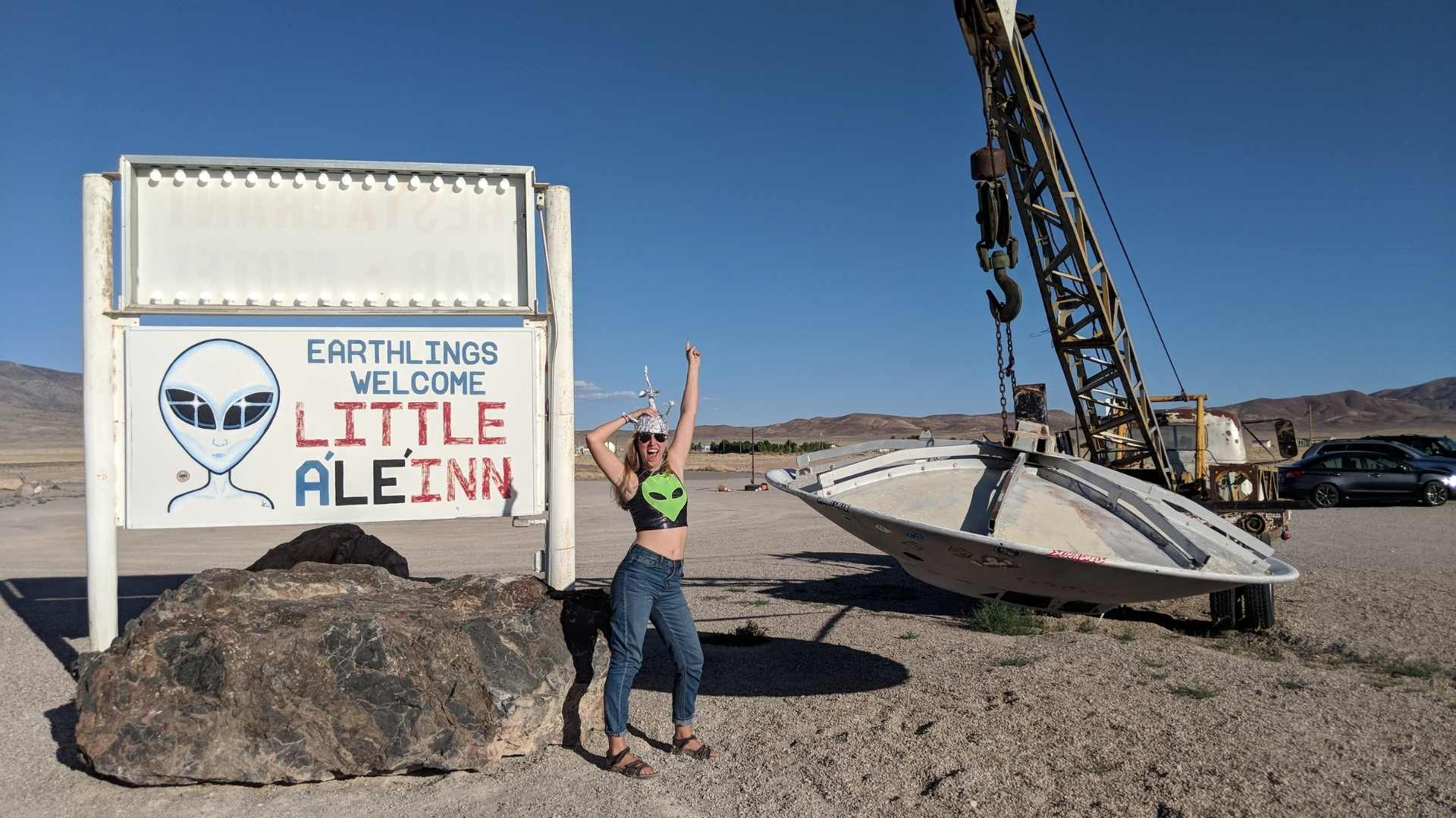 friend road trip to Rachel, Nevada