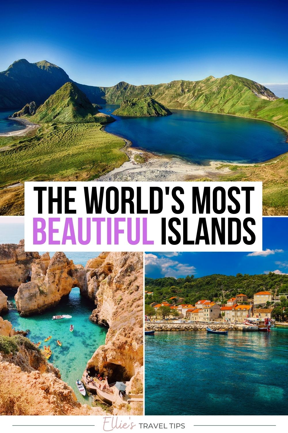 the world's most beautiful islands pin