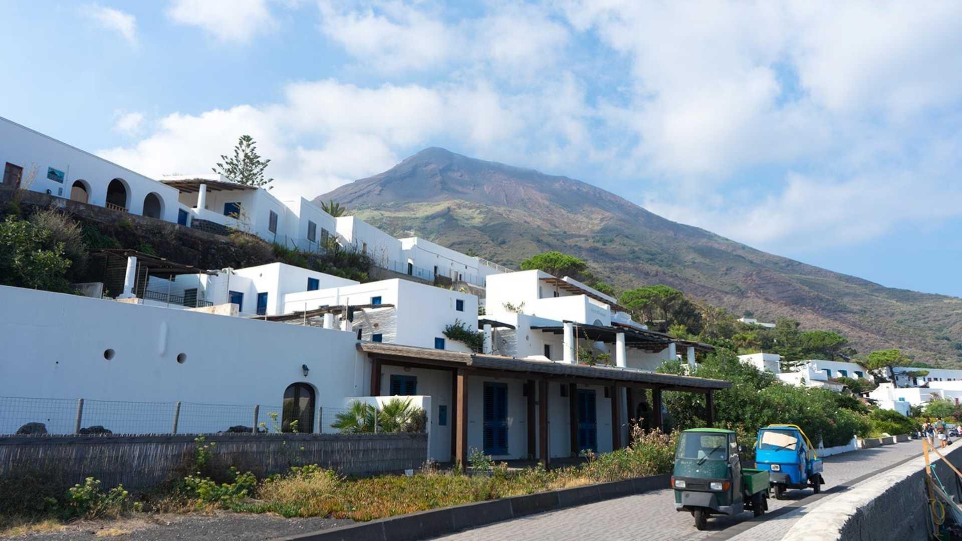 beautiful Stromboli island